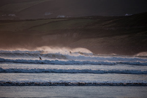 Surfing at Inch beach