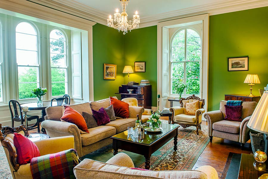Green Sitting Room Coolclogher House